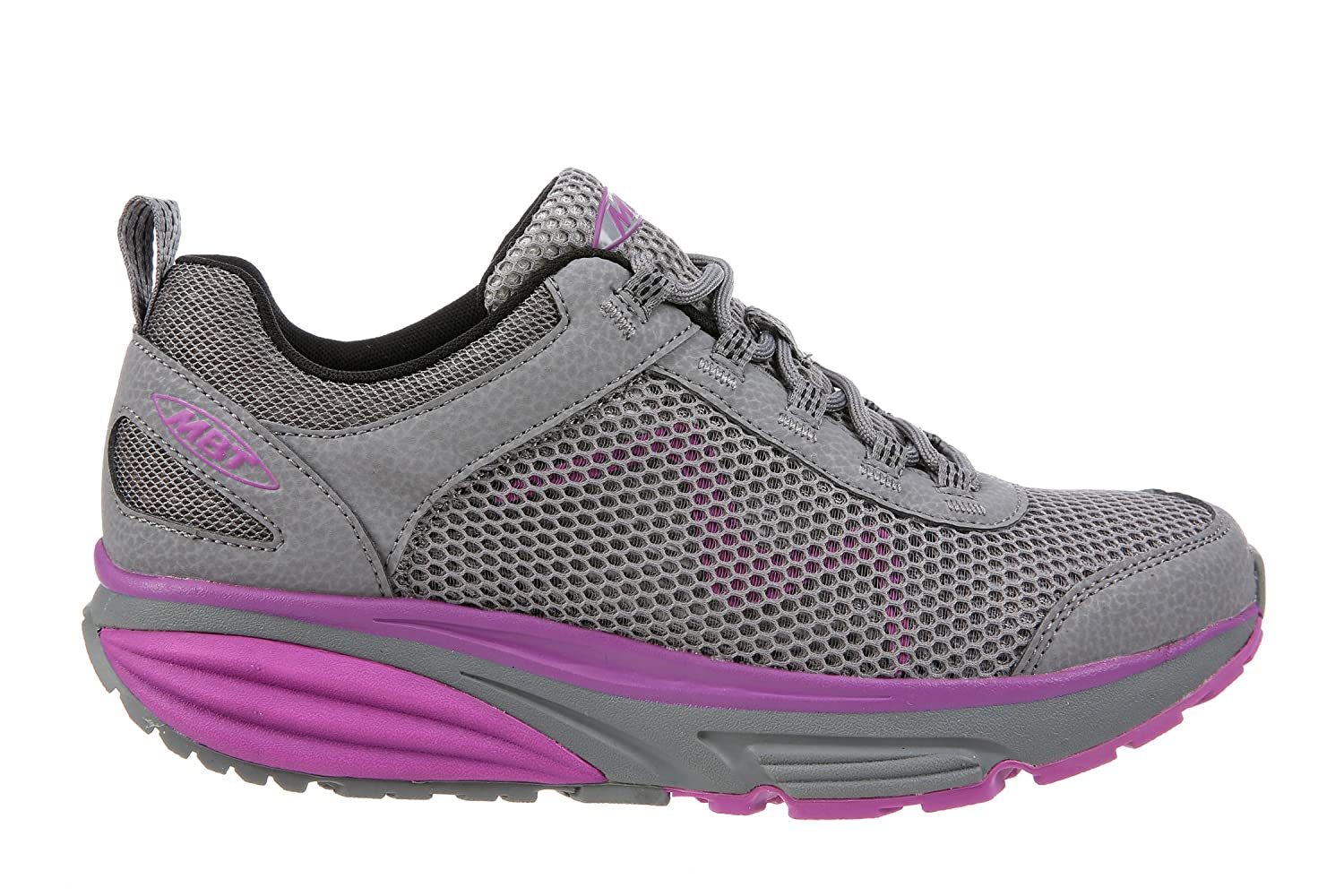MBT Shoes Women's Colorado 17 Lace Up Athletic Shoe Mesh Lace-up B0741S6PSD 10 B(M) US|Grey/Purple