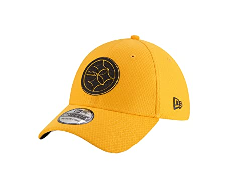 deaa5351d52 New Era NFL Pittsburgh Steelers Official 2018 Training Secondary OTC  39Thirty Stretch Cap - Gelb  Amazon.de  Bekleidung