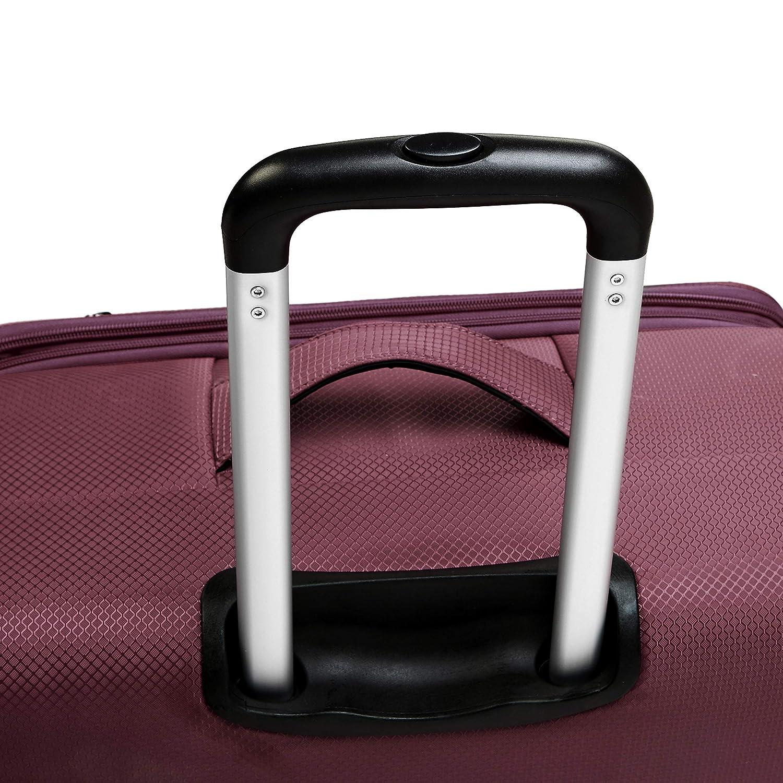 56 cm, 69 cm, 81 cm Black 3-Piece Set Basics Lightweight Softside Spinner