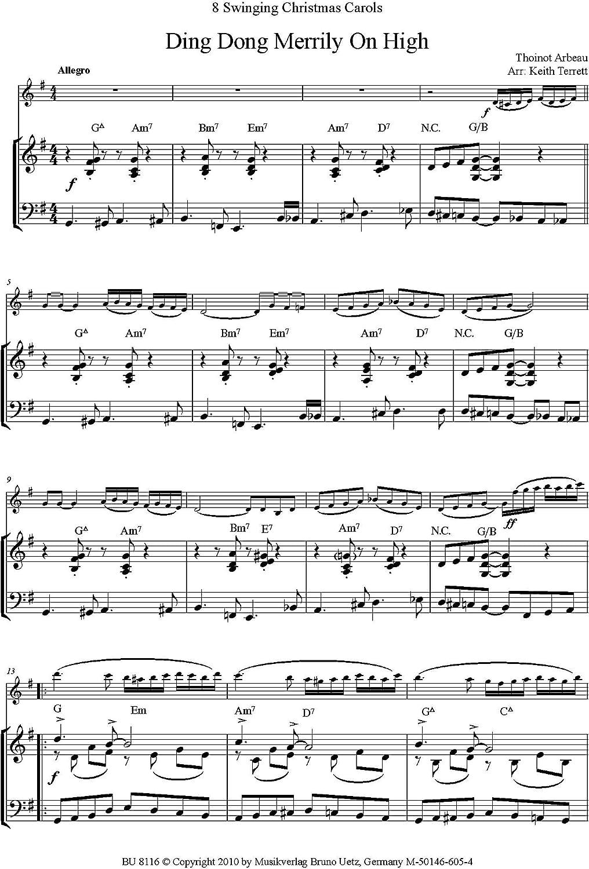 8 Swing Extremo Canciones de Navidad para violín y piano/8 ...