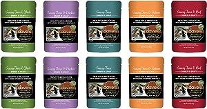 Dave's Naturally Healthy Grain Free Cat Food in Gravy in 5 Flavors: (2) Tuna, (2) Tuna & Salmon, (2) Tuna & Duck, (2) Tuna & Beef and (2) Tuna & Chicken (10 Pouches Total, 2.8 Ounces Each)