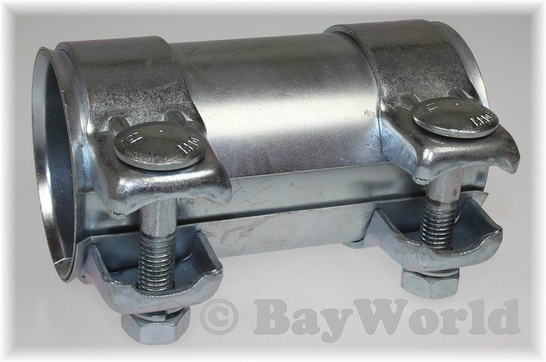 2 x Schelle Ø 54,5 mm Breitbandschelle Auspuff Rohrverbinder Abgasanlage NEU