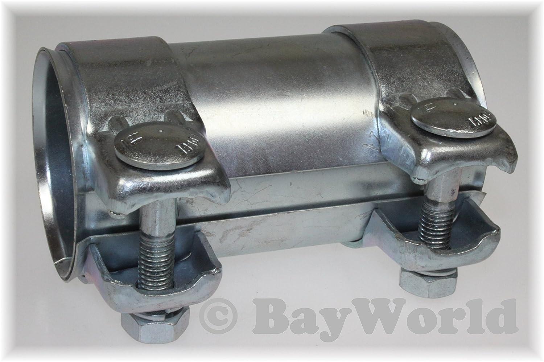 Auspuff Universal Rohrverbinder 58x62, 5x125mm Doppelschelle 58x125 mm BayWorld 58x125mm