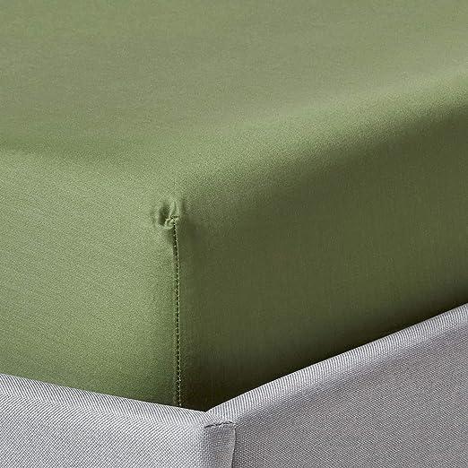 HOMESCAPES - Sábana Bajera Ajustable (algodón orgánico de 400 ...