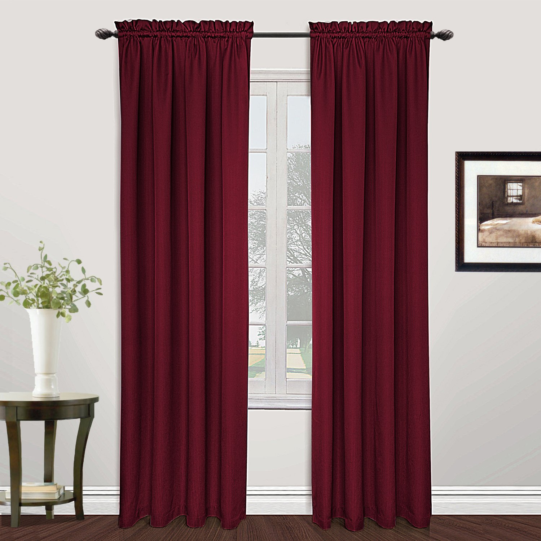 United Curtain Metro Woven Window Curtain Panel 54 by 72-Inch Burgundy MET72BG