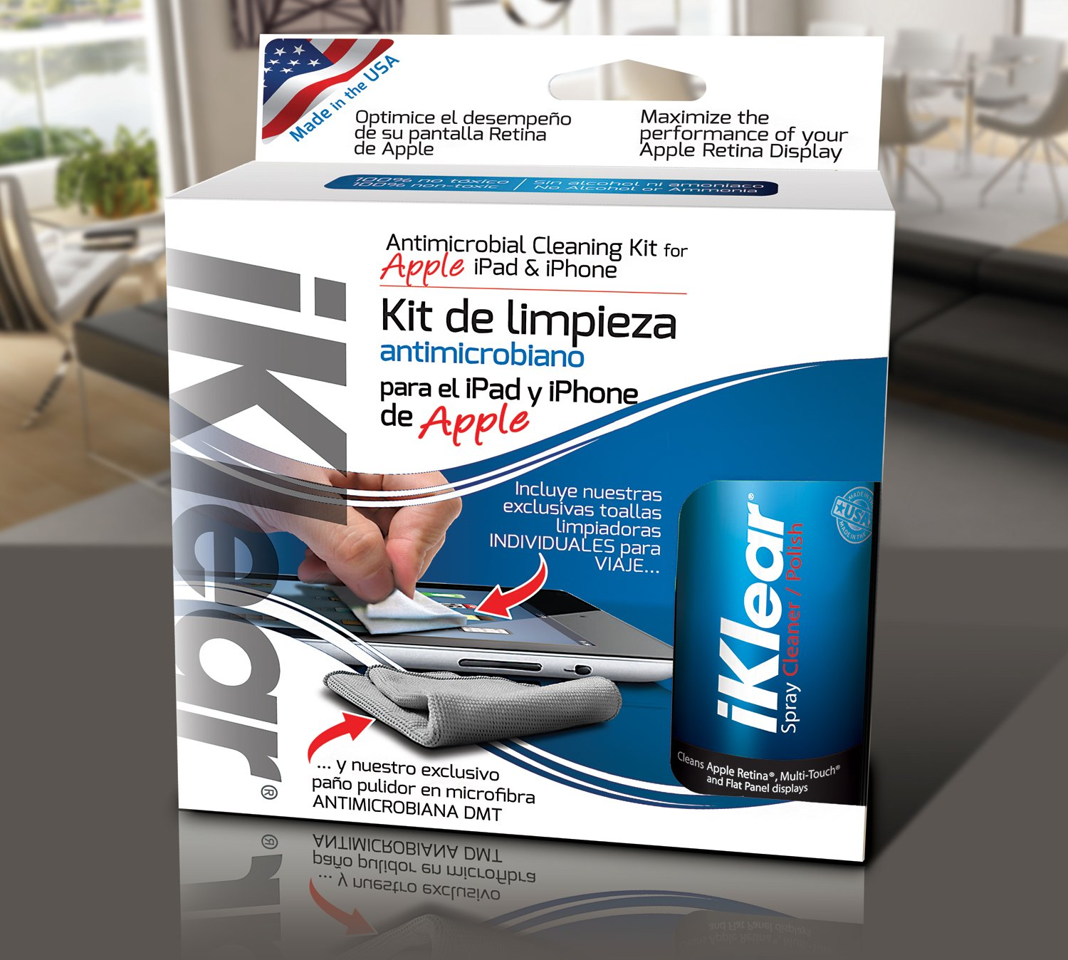 Amazon.com: iKlear iPad Cleaning Kit - 3 Pack Spanish Language Packaging: Home Audio & Theater