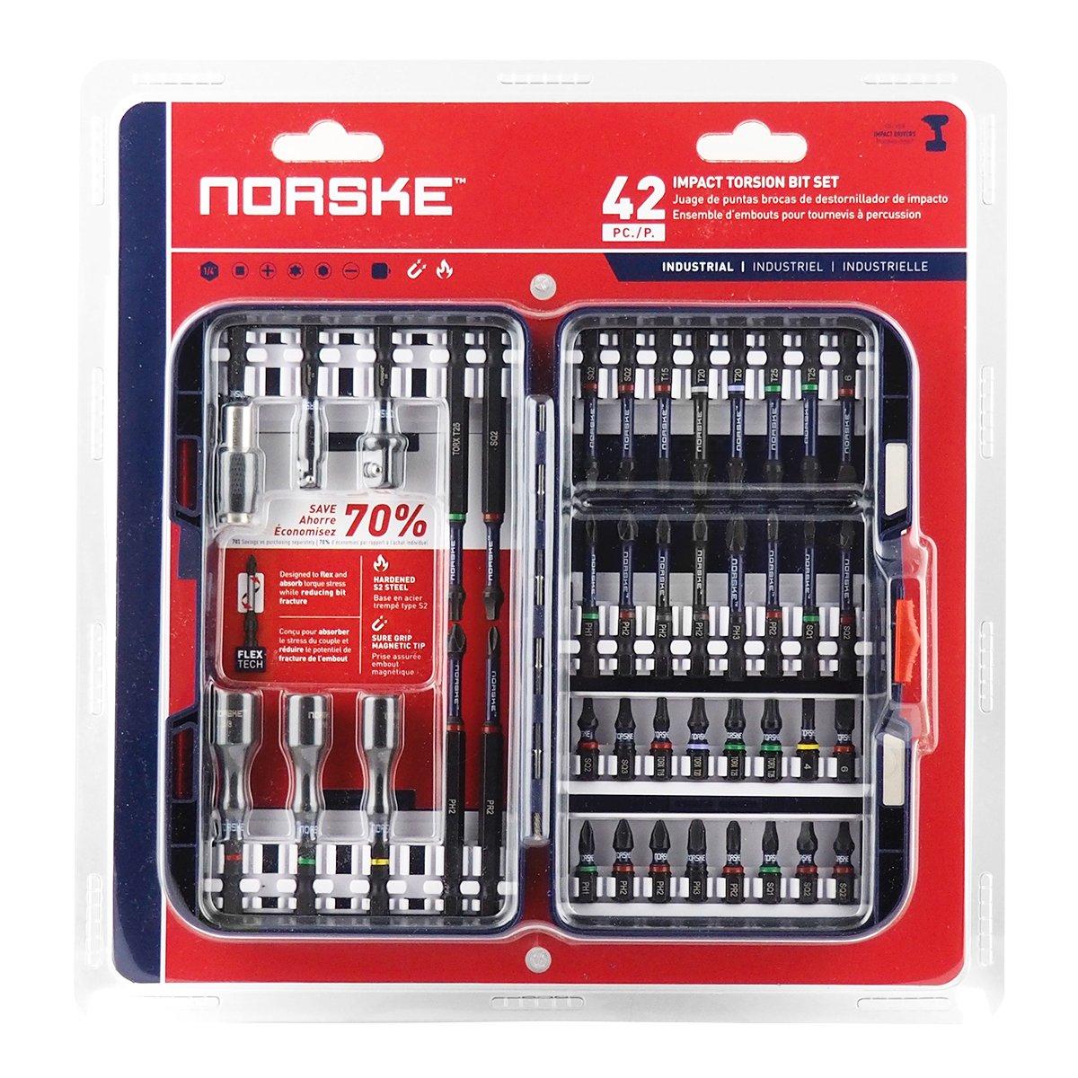 Norske NIBPI703 Set de brocas de torsión de 42 Pz
