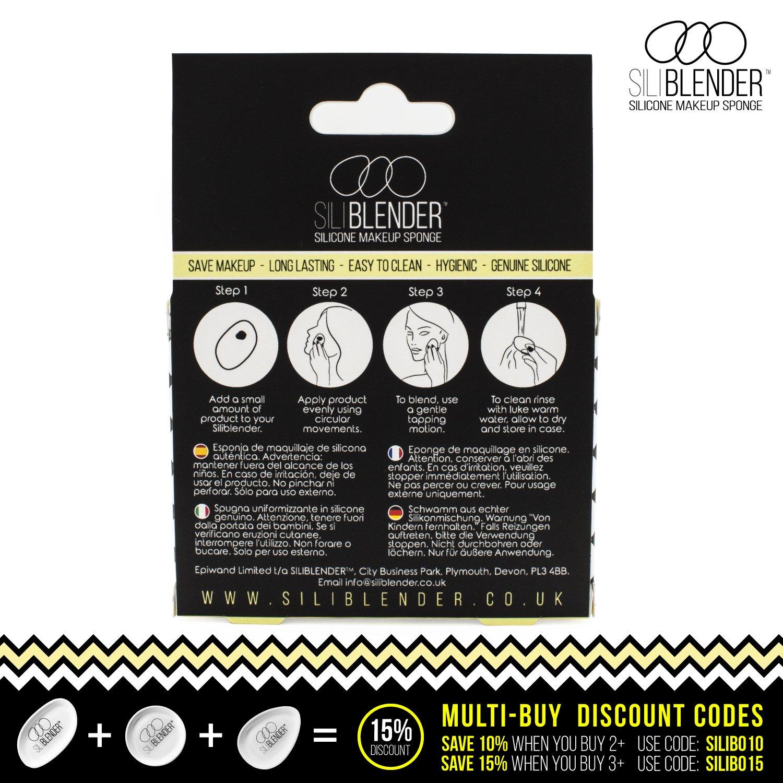 SILIBLENDER - Esponja de maquillaje de silicona profesionales con estuche- Núcleo de silicona 100% real - Aplique el maquillaje de forma fácil - Higiénica y ...