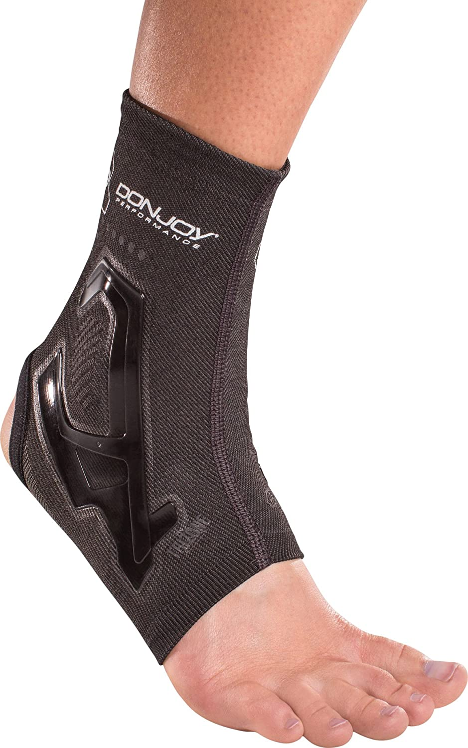 a4ebbd240b DonJoy Performance Trizone Ankle Compression Sleeve – Low-Profile Brace,  Fits in Cleats or