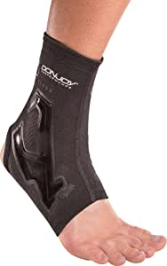 DonJoy Performance Trizone Ankle Compression Sleeve – Low-Profile Brace, Fits in Cleats or Any Shoe, Best for Running, Soccer, Tennis, Baseball, Softball, Ankle Support, Sprains, Rolled Ankles