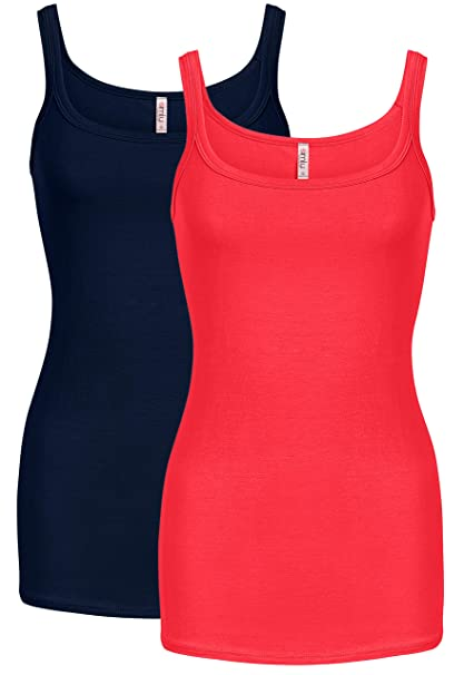 Cami Tank Tops for Women Reg and Plus Size Womens Camisoles Workout Top -  Made in b876914205