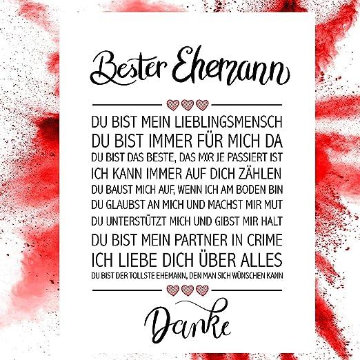Close Up Bester Ehemann Danke Zitate Poster Deko Geschenk Zum Hochzeitstag Geburtstag Weihnachten Jeden Tag 30 X 40 Cm Premium Qualität Amazon De Küche Haushalt