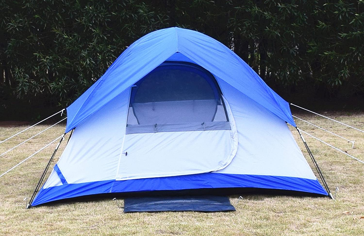 USA STAR Mountain Waterproof Tent Dome Outdoor Camping Instant Tents for Camping 2 Person White Blue by Busen   B01EBTNCUA