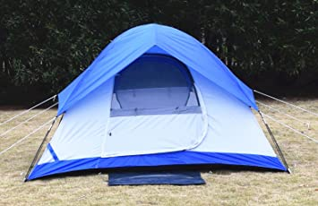 USA STAR Mountain Waterproof Tent Dome Outdoor C&ing Instant Tents for C&ing 2 Person White Blue & Amazon.com : USA STAR Mountain Waterproof Tent Dome Outdoor ...