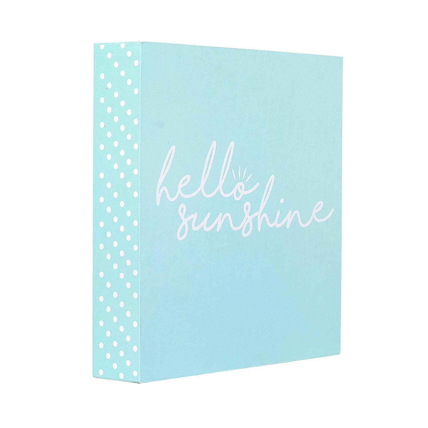 Modern Quote Home Decor Sign with Sayings 8 x 8 Modern Quote Home Decor Sign with Sayings 8 x 8 FM17C0730 Barnyard Designs Hello Sunshine Box Sign