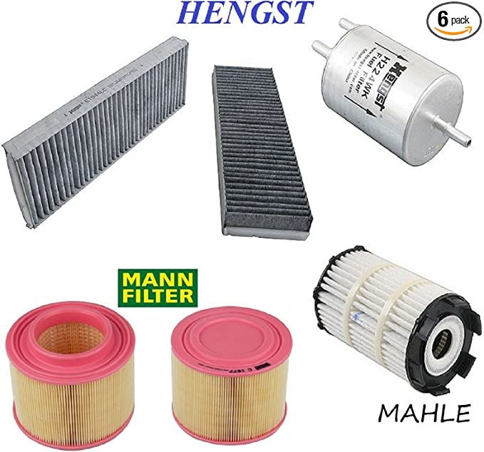 Tune Up Kit Engine Oil Fuel Cabin Air Filters for Audi A6 2006-2011