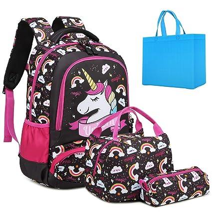 Amazon.com: Juego de mochila para niñas y adolescentes con ...