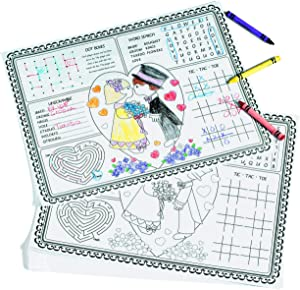 Fun Express Paper Wedding Children's Activity Placemats - 12 Pieces