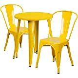 Flash Furniture 24'' Round Yellow Metal