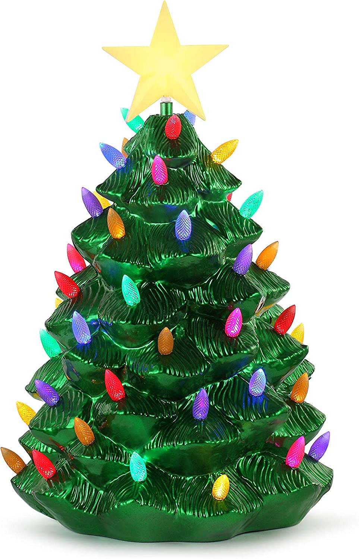 "Mr. Christmas 24"" Outdoor Blow Mold Nostalgic Tree - Green Metallic Christmas Décor, inch"