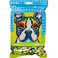 Perler Beads Rainbow Terrier Dog Pattern and Fuse Bead Kit, 11'' X 11.5'', 3503Pc