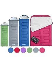 KingCamp Oasis Saco de Dormir de 3 Estaciones 4 Tamaños Disponibles (Niño, Adulto,