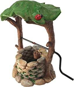 Miniature Wishing Well with Movable Handle and Water Bucket for Garden Gnomes and Fairies -a Fairy Garden Accessory