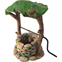 Miniature Wishing Well with Movable Handle and Water Bucket for Garden Gnomes -a Fairy Garden Accessory