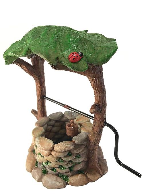 1 opinioni per Pozzo dei desideri in miniatura con impugnatura mobile e secchio dell'acqua per