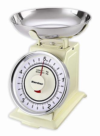 Karcher WAK 811 - Báscula de cocina mecánica retro, color magnolia