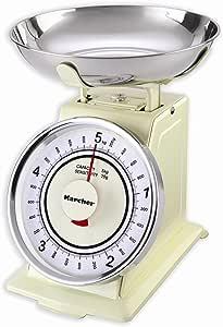 Karcher 130130 WAK 811 Báscula de Cocina mecánica Retro Magnolia: Amazon.es