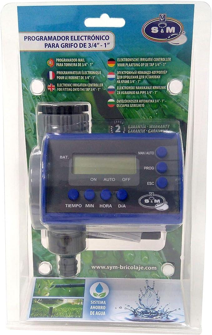 S&M 590047 Programador Digital de Grifo para Riego Automático ...