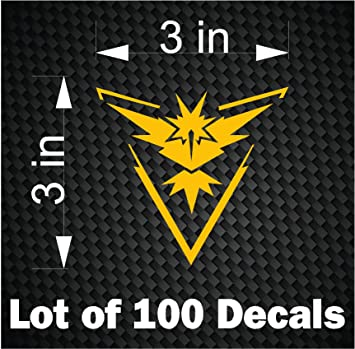 Bulk lot 100 pokemon go vinyl decals stickers team instinct decal