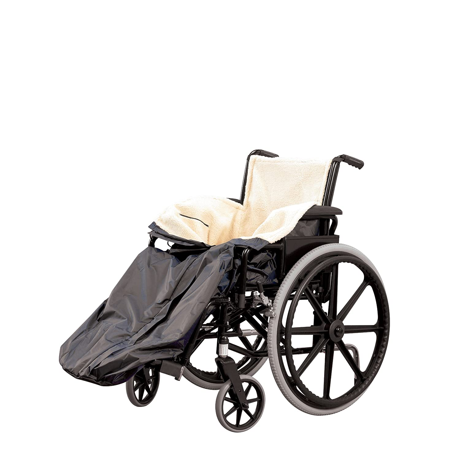 Homecraft Wheelchair Cosy, Standard Size, Wheelchair Blanket for Warmth and Comfort, Wheelchair Accessory, Fleece Lined Blanket with Ring Pulled Zipper, Fits Nearly All Manual Wheelchairs Patterson Medical 091119080