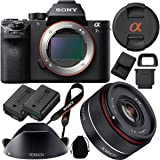 Sony a7S II (Alpha 7S II) Full-frame Mirrorless Interchangeable Lens Camera with Rokinon 35mm f/2.8 FE (IO35AF-E) Ultra Compact Wide Angle Full Frame Lens Bundle