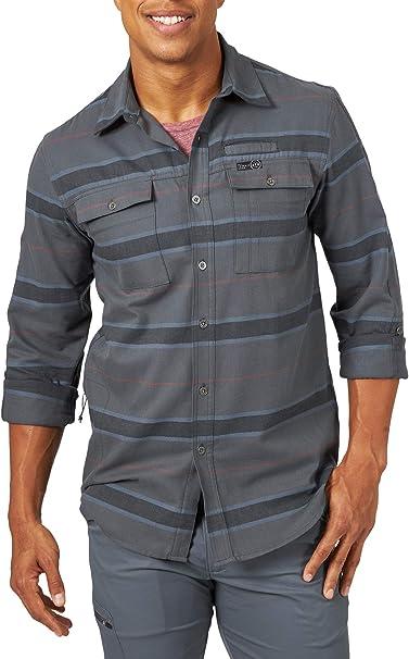 ATG by Wrangler Mens Long Sleeve Mixed Material Shirt Shirt
