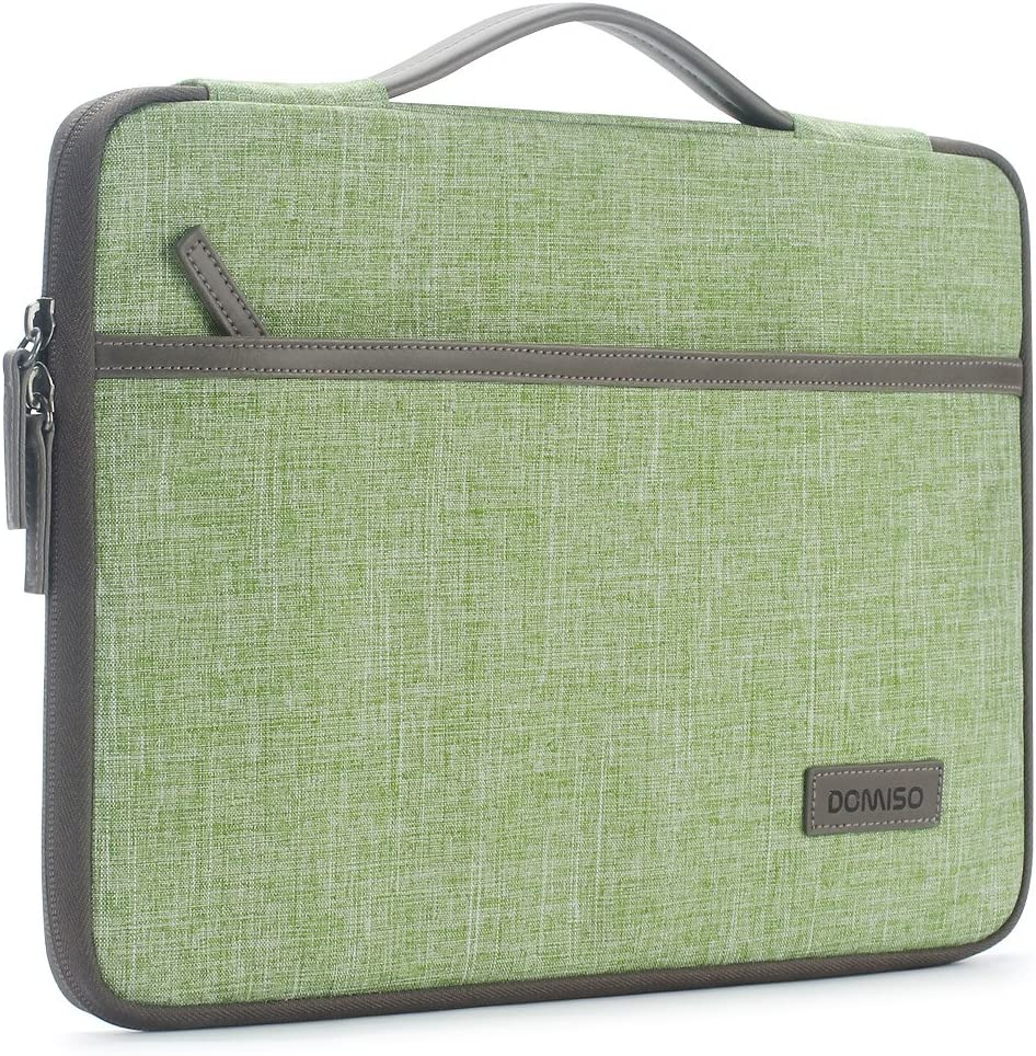 "DOMISO 14 inch Laptop Sleeve Case Notebook Bag Carrying Handbag Cover for 13.9"" Lenovo Yoga 920 14"" Lenovo ThinkPad T470 E470 / 14"" HP Pavilion 14/13"" HP Pavilion x360 13/13.5"" Surface Book, Green"