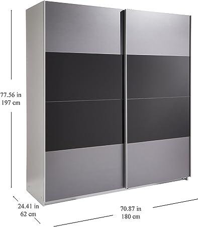 Wimex 163771 Armario de Puertas correderas (198 x 180 x 64 cm ...