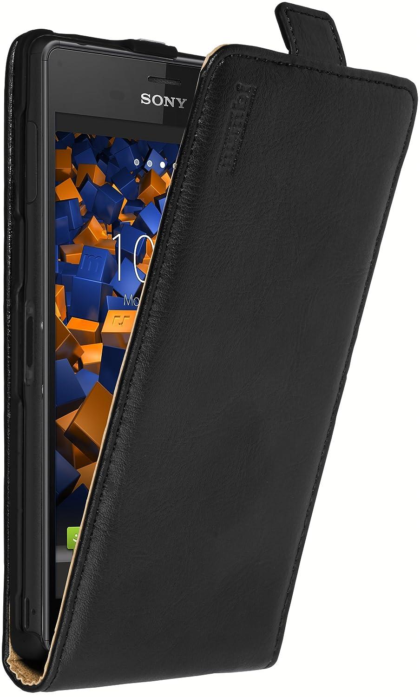 mumbi PREMIUM Leder Flip Case für Sony Xperia Z3: Amazon.de: Elektronik