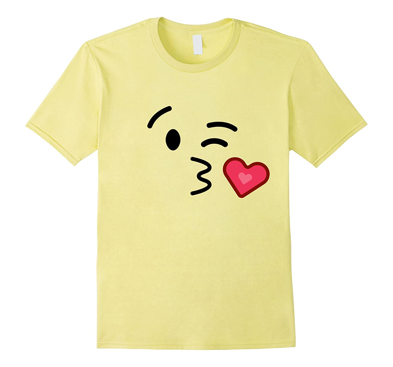 Kissy Face Blowing A Kiss Emoji T Shirt Costume-T-Shirt