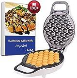Hong Kong Egg Waffle Maker with BONUS recipe e-book - Make Hong Kong Style Bubble Egg Waffle in 5 minutes AC 120V, 60Hz…