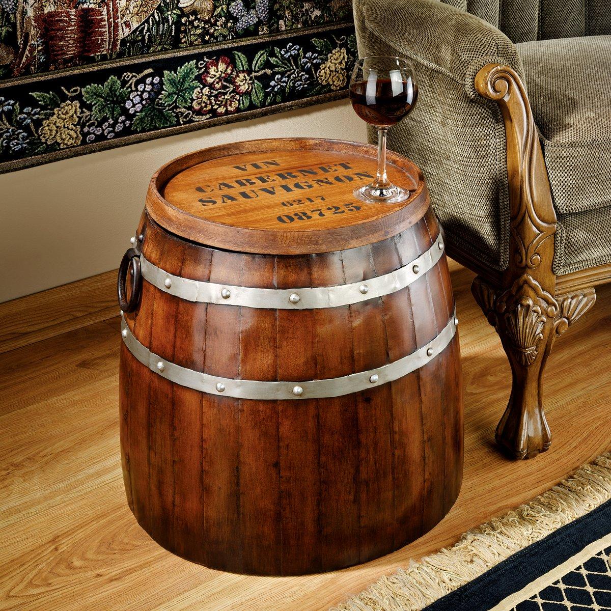 Amazoncom Design Toscano French Wine Barrel Side Table Kitchen