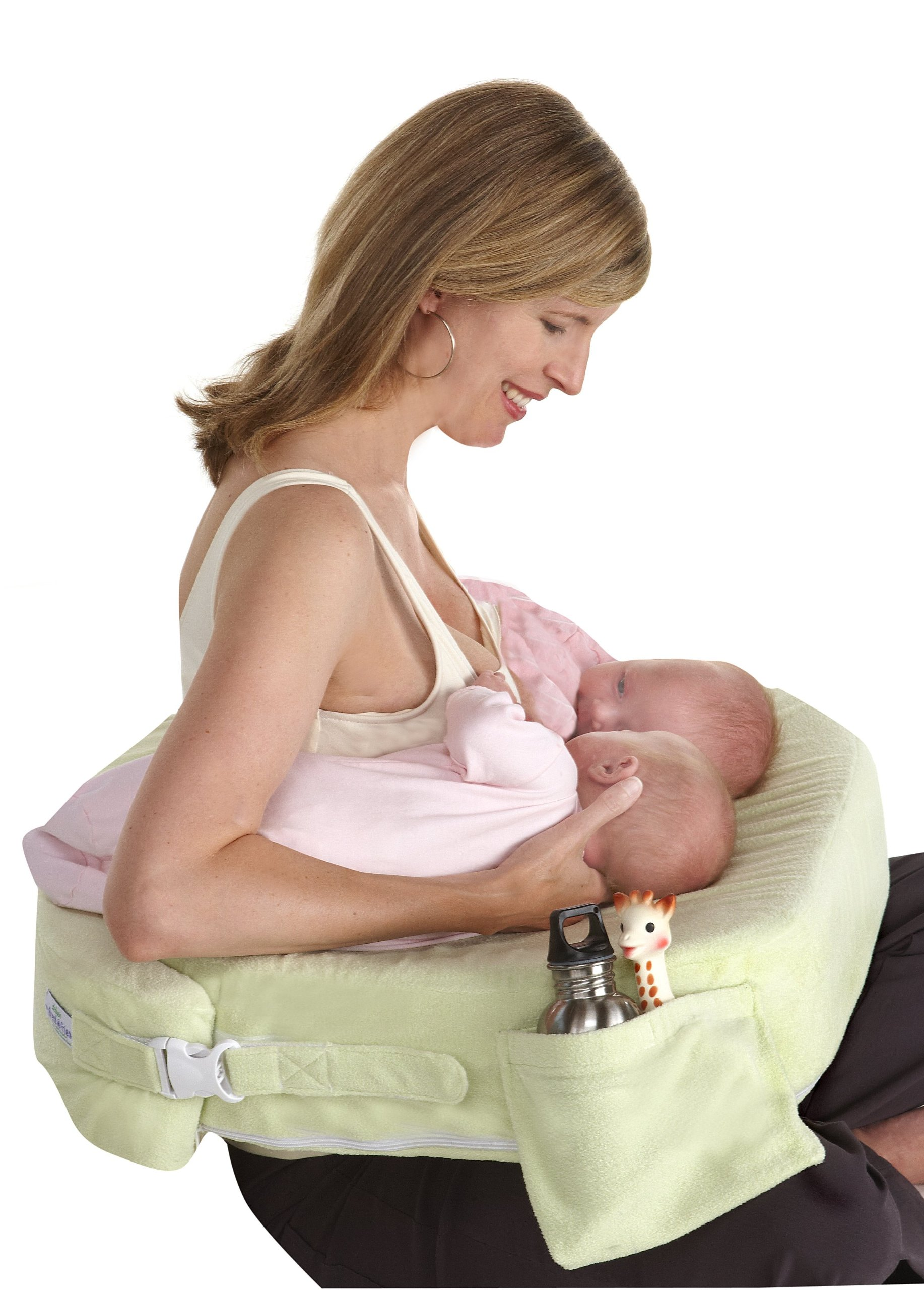 My Brest Friend Supportive Nursing Pillow for Twins 0-12 Months, Plus-Size, Light Green by My Brest Friend (Image #2)