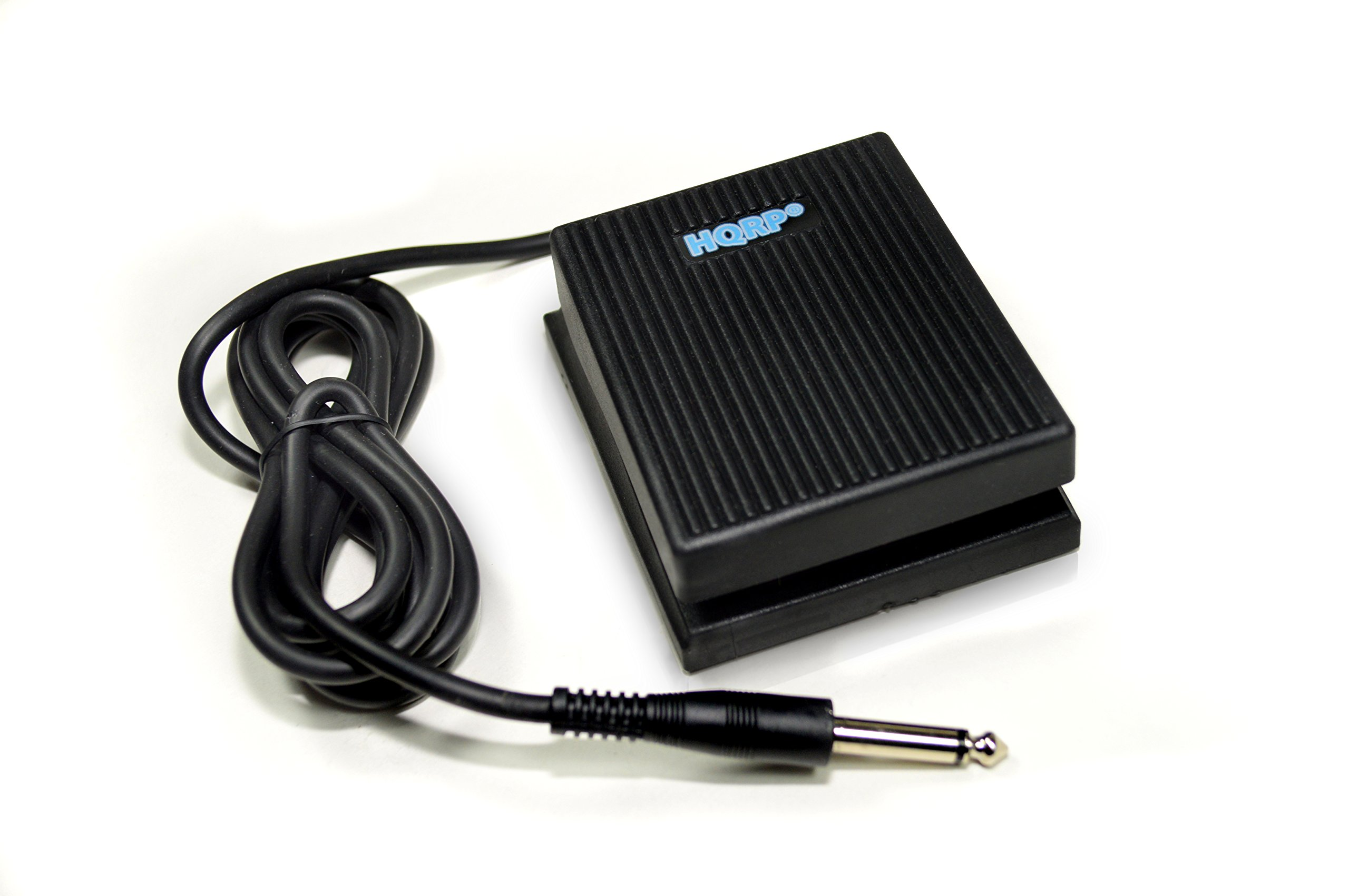 HQRP Foot Switch for Alesis SR-16 SR-18 Drum Machine Damper Sustain Pedal + HQRP Coaster