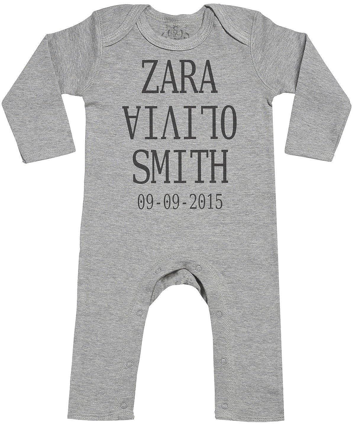 Spoilt Rotten Personalizados Bebé Full Name & DOB Footless - Personalizados Peleles Para Bebé - Peleles Para Bebé Niño - Peleles Para Bebé Niña: Amazon.es: ...