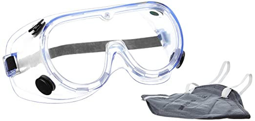 f8598d8aa 3M 1621+9000IN Chemical Protection Safety Goggles and Dust ...