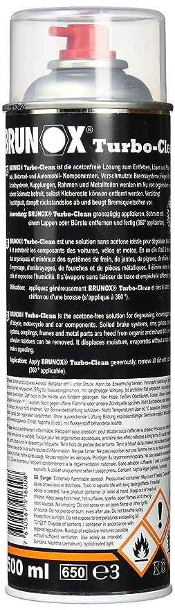 Brunox 2172681200 Freno Limpiador, Negro, 10 x 10 x 15 cm: Amazon.es: Deportes y aire libre