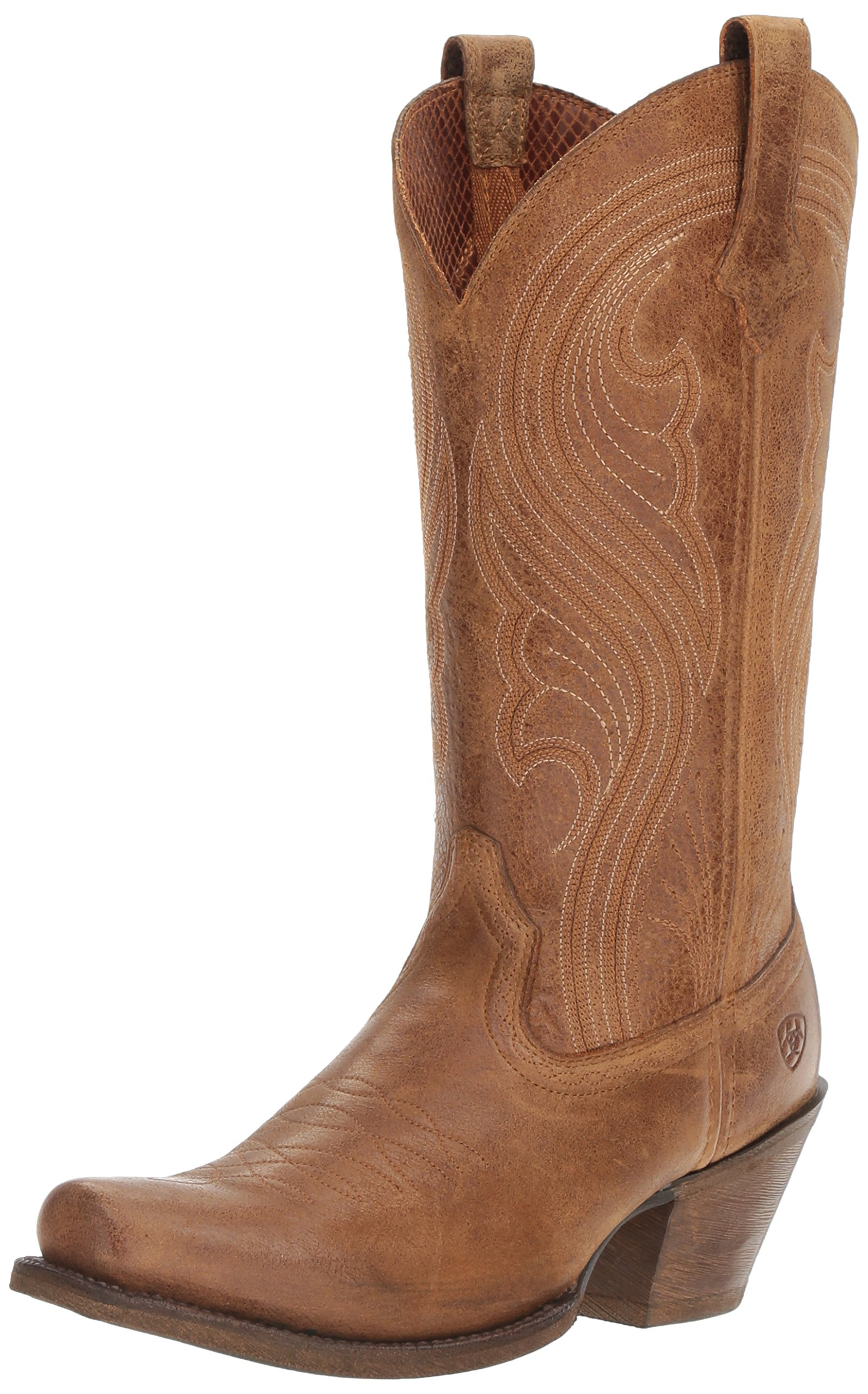 Ariat Women's Lively Western Cowboy Boot, Old West Brown, 9 B US by Ariat (Image #1)