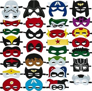 Amazon.com: Máscaras de fiesta de superhéroes para niños a ...
