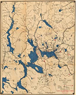 Historic Pictoric Map | Rangeley, Rangeley Lakes Region 1963 | Vintage Poster Art Reproduction |